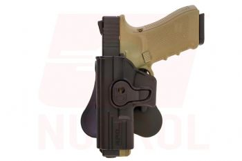 NUPROL EU G-Series Pistol Retention Paddle Holster - Black - Left Handed